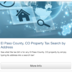 Property Tax info, El Paso Country